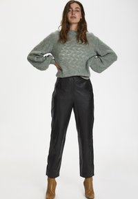 Soaked in Luxury - SLPATRICIA - Leather trousers - black - 1