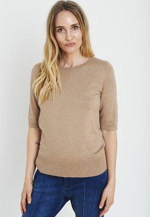 PZSARA - Print T-shirt - tannin melange