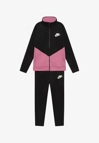 Nike Sportswear - B NSW CORE TRK STE PLY FUTURA - Sportovní bunda - black/magic flamingo - 3