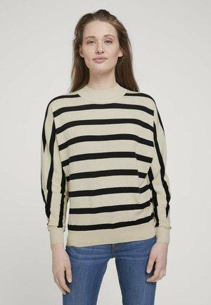 Jumper - big creme navy stripe