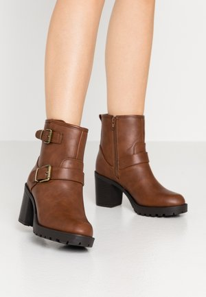Bottines à plateau - brown