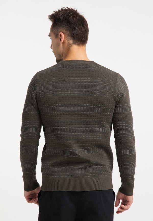 TUFFSKULL Sweter - militär oliv grau/oliwkowy Odzież Męska SXHZ