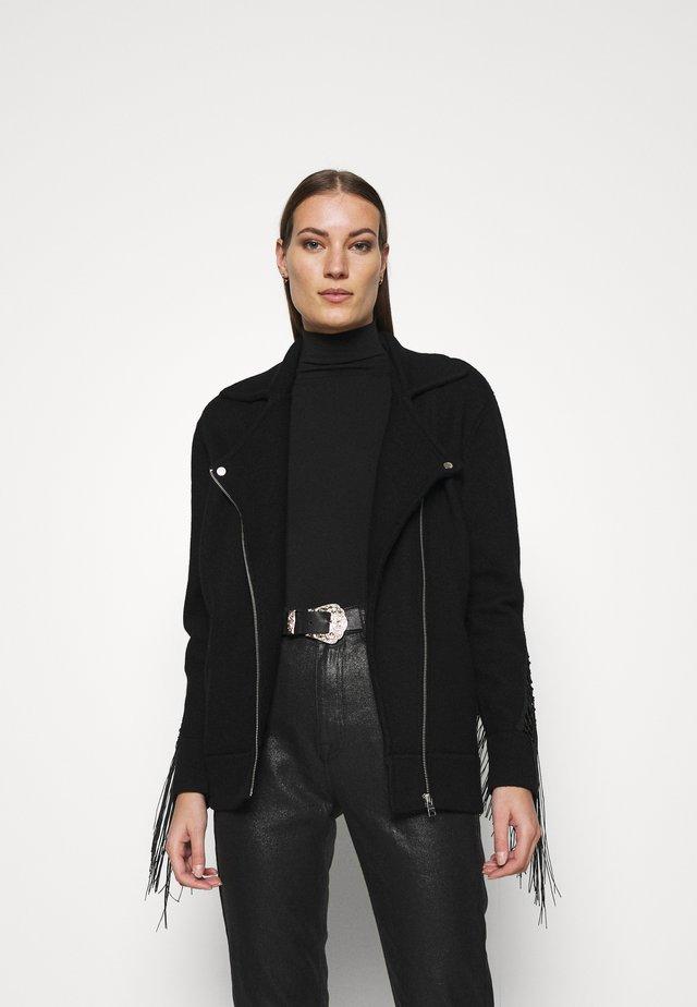 ROBYN BIKER - Summer jacket - black