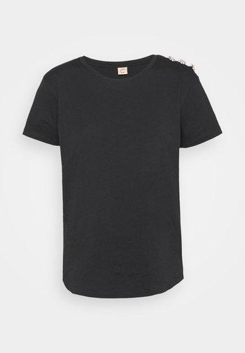 CRYSTAL - Basic T-shirt - anthracite/black