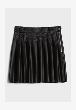 MIT KELLERFALTEN - Pleated skirt - black
