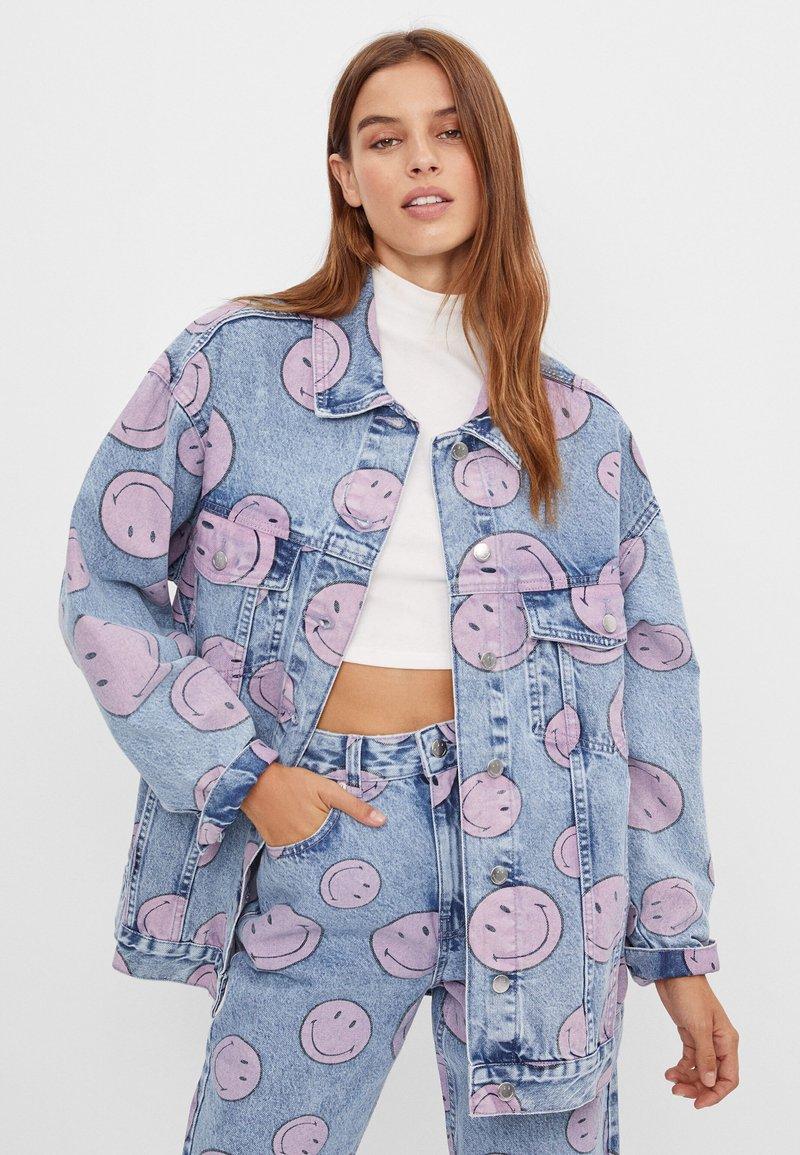 Bershka - Denim jacket - blue denim