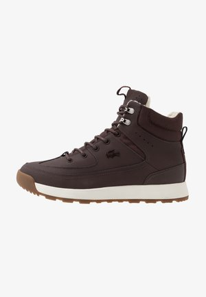 URBAN BREAKER - Korkeavartiset tennarit - dark brown/offwhite