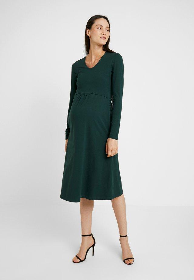 CHARLOTTE DRESS - Trikoomekko - dark green