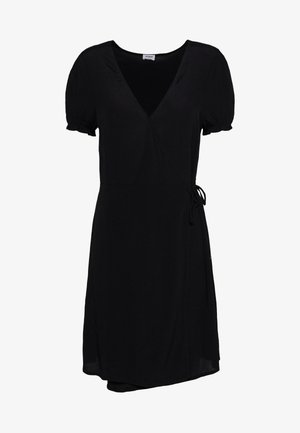 AMY WRAP MINI DRESS - Kjole - black