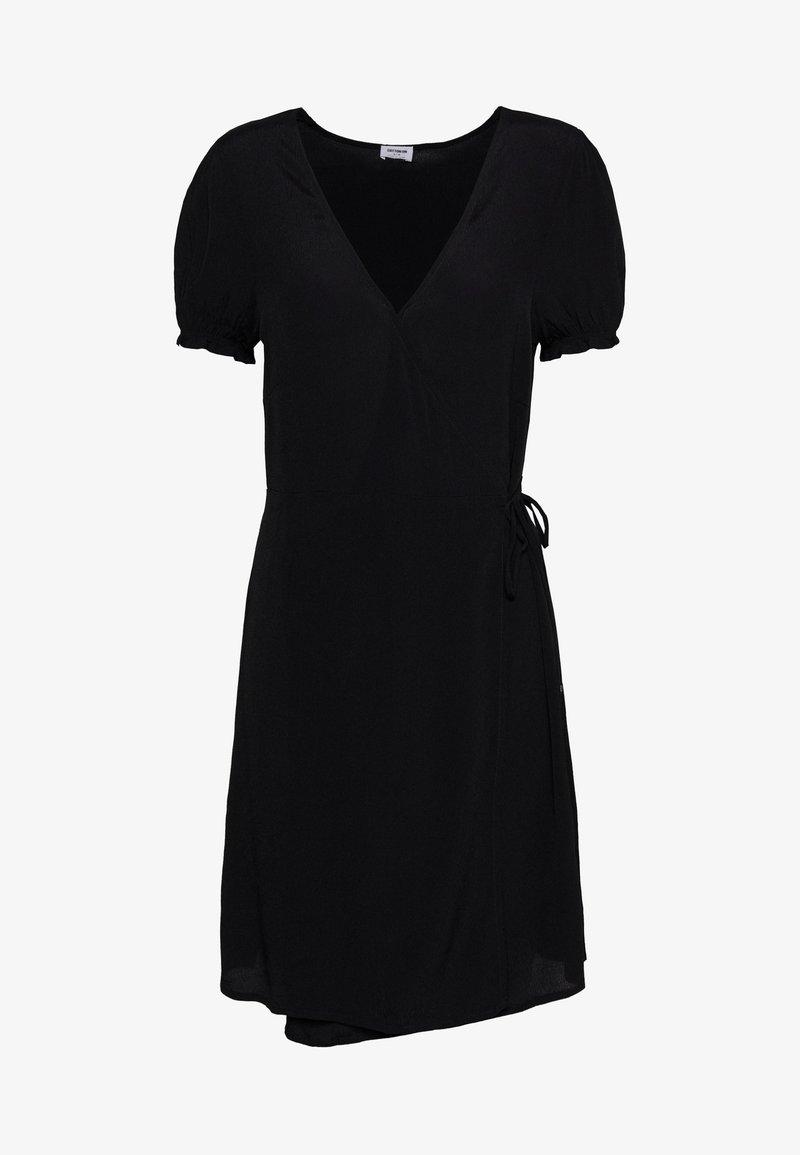 Cotton On - AMY WRAP MINI DRESS - Kjole - black