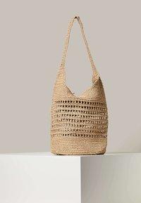 OYSHO - OPENWORK - Handbag - beige - 1