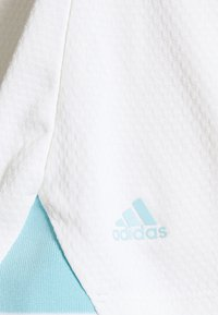 adidas Golf - HEAT.RDY ZIP SHORT SLEEVE - Triko s potiskem - white - 2