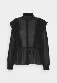 Vero Moda - VMIRIS FRILL  - Button-down blouse - black - 6