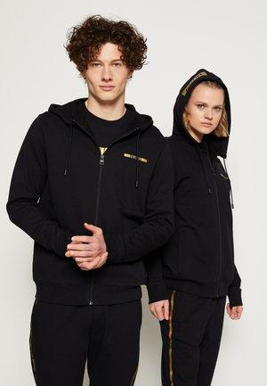 DINORO METALLIC UNISEX - Zip-up hoodie - black/gold
