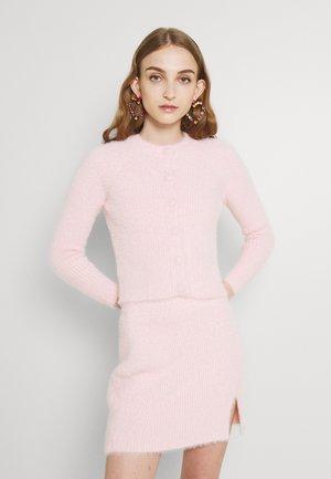 BUTTON THROUGH CROP CARDIGAN - Cardigan - pale pink