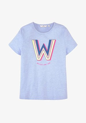Print T-shirt - kids regatta blue melange