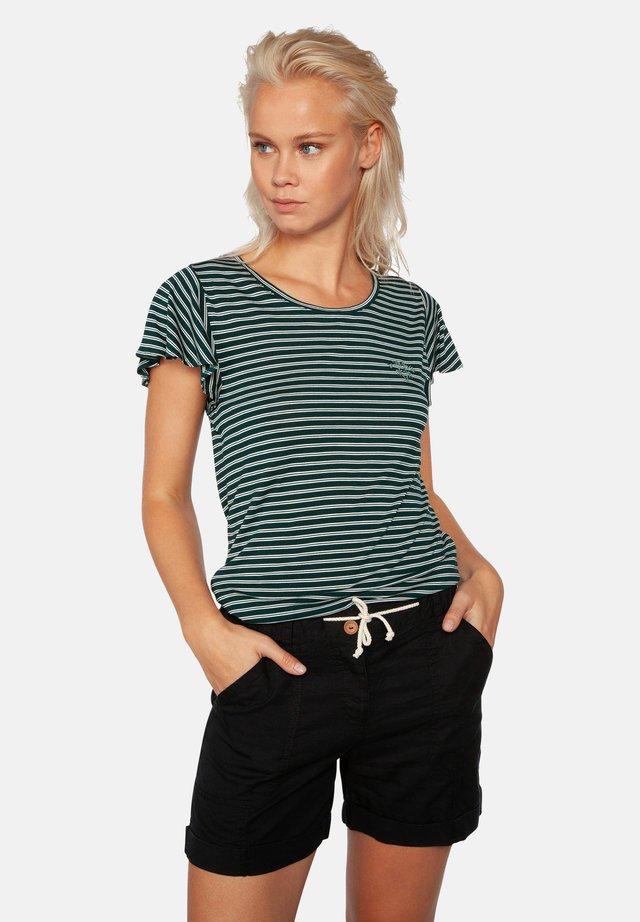 TAMARAMA - T-shirt print - green/white