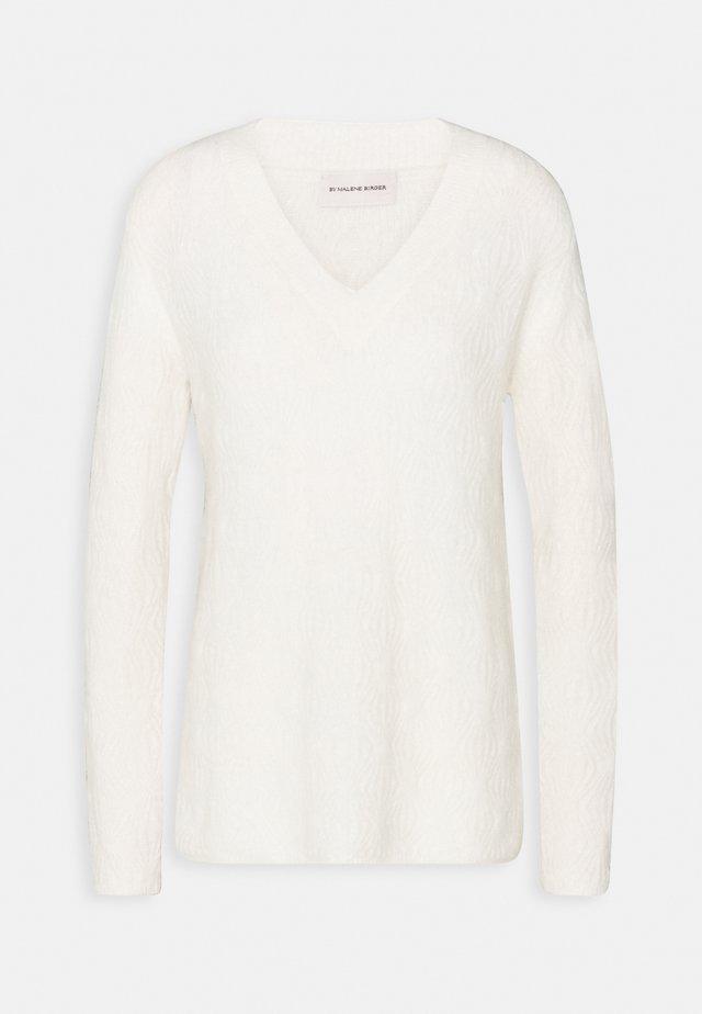 BIFORA - Sweter - soft white