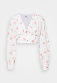 Blouse - rose broderie