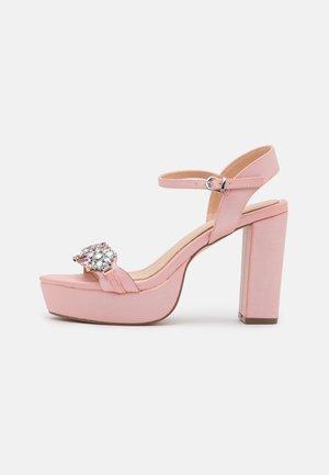 LEANDRA - Sandály na vysokém podpatku - pink