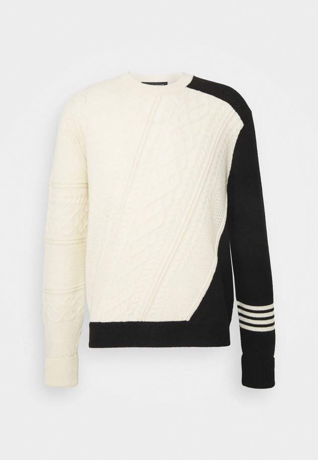 MISPLACED ARAN  - Jumper - off-white/black