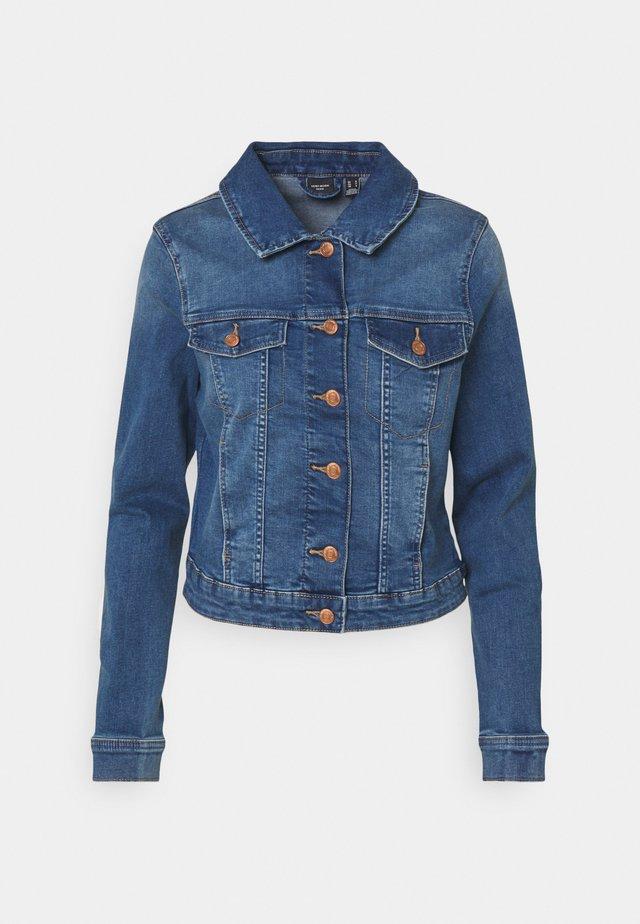 VMTINE SLIM JACKET - Spijkerjas - medium blue denim