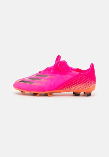 X GHOSTED.1 FG UNISEX - Moulded stud football boots - shock pink/core black/screaming orange