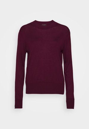 EASY CREW SOLIDS - Strickpullover - classic burgundy
