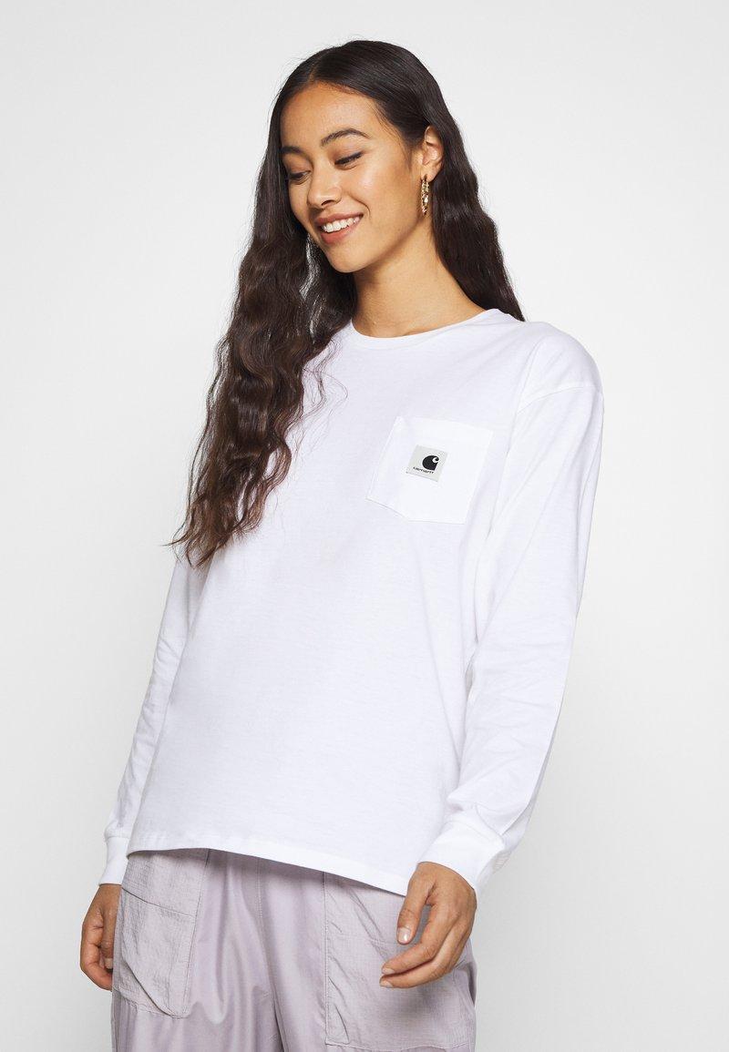 Carhartt WIP - POCKET - Long sleeved top - white