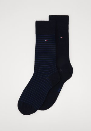 MEN SMALL STRIPE SOCK 2 PACK - Chaussettes - blue