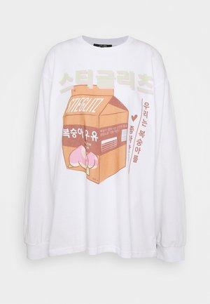 DAEUN TEE - Camiseta de manga larga - white