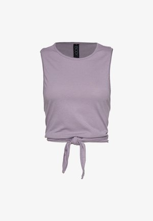 LIFESTYLE TIE UP MUSCLE TANK - Top - faded grape