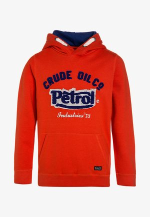 HOODED - Hoodie - dark orange