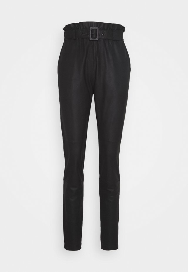 PANT BELT - Pantaloni - black