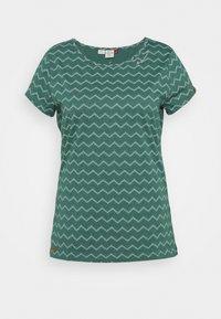 Ragwear Plus - CHEVRON - Triko spotiskem - dark green - 0