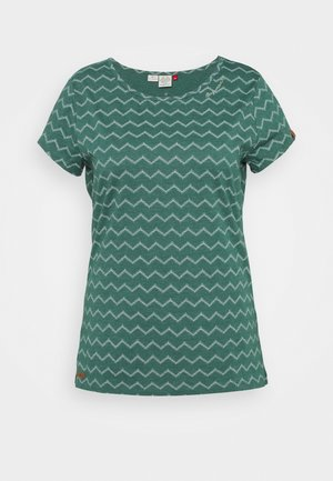CHEVRON - T-shirts med print - dark green