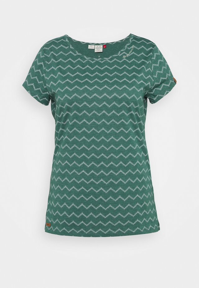 CHEVRON - T-shirt print - dark green