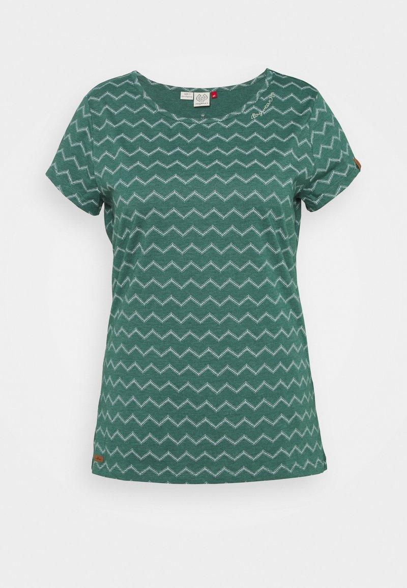 Ragwear Plus - CHEVRON - Triko spotiskem - dark green