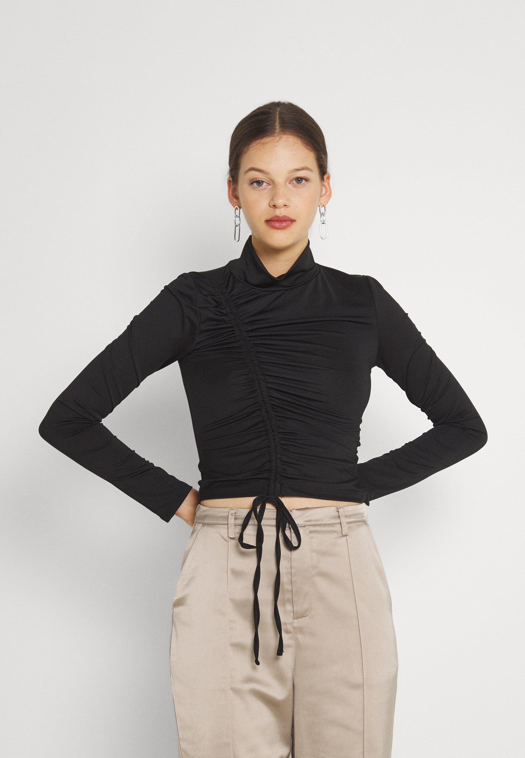 Women DRAWSTRING SLINKY - Long sleeved top