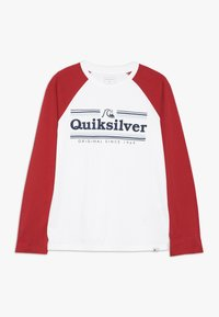 Quiksilver - GET BUZZY - Long sleeved top - white/garnet - 0