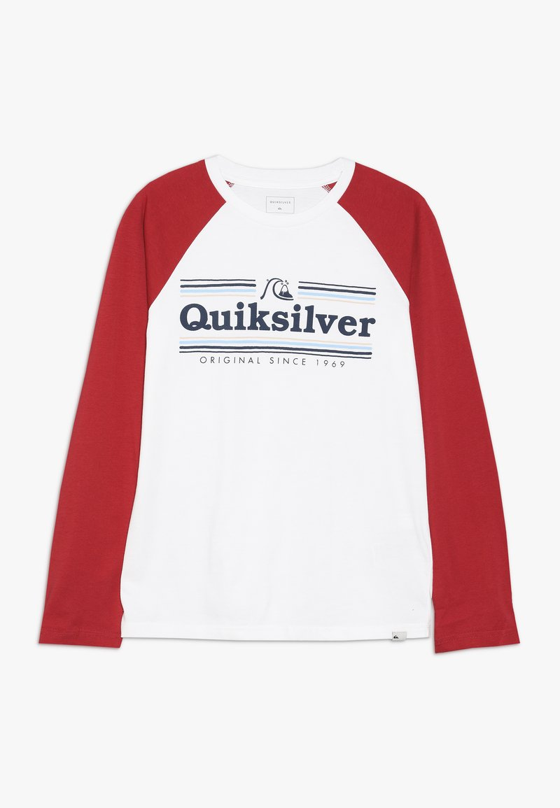 Quiksilver - GET BUZZY - Long sleeved top - white/garnet