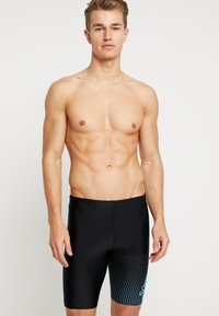Speedo - GALA LOGO JAMMER - Swimming trunks - black/aquasplash - 0