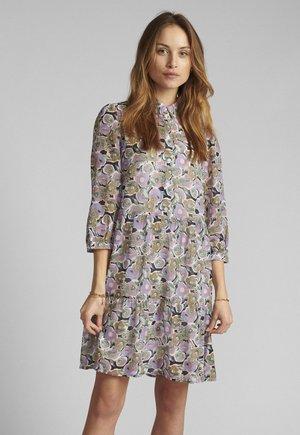 Korte jurk - wedgewood