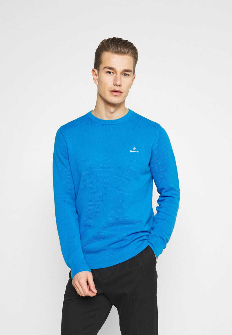 GANT - C NECK - Stickad tröja - clear blue