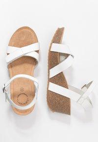 Ca'Shott - Sandály na platformě - bianco - 3