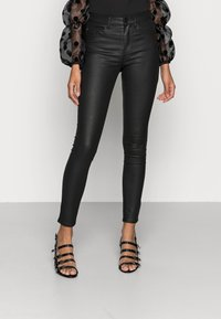 ONLY - ONLFHUSH MID ANK - Jeans Skinny Fit - black - 0