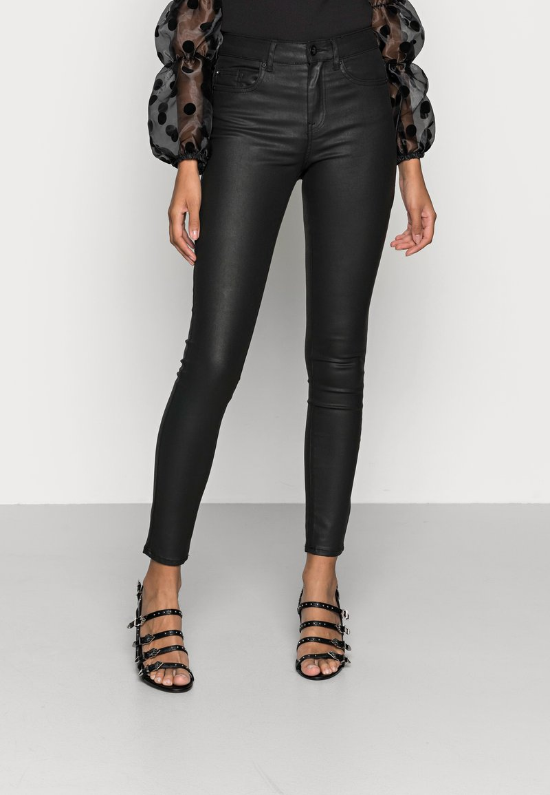 ONLY - ONLFHUSH MID ANK - Jeans Skinny Fit - black