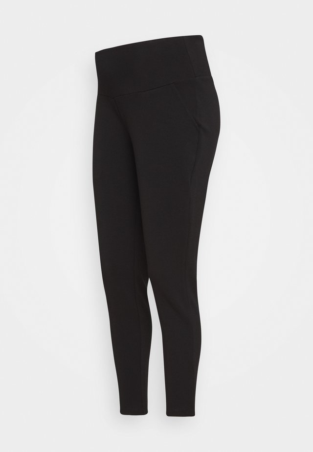 SUPER SOFT - Trousers - black