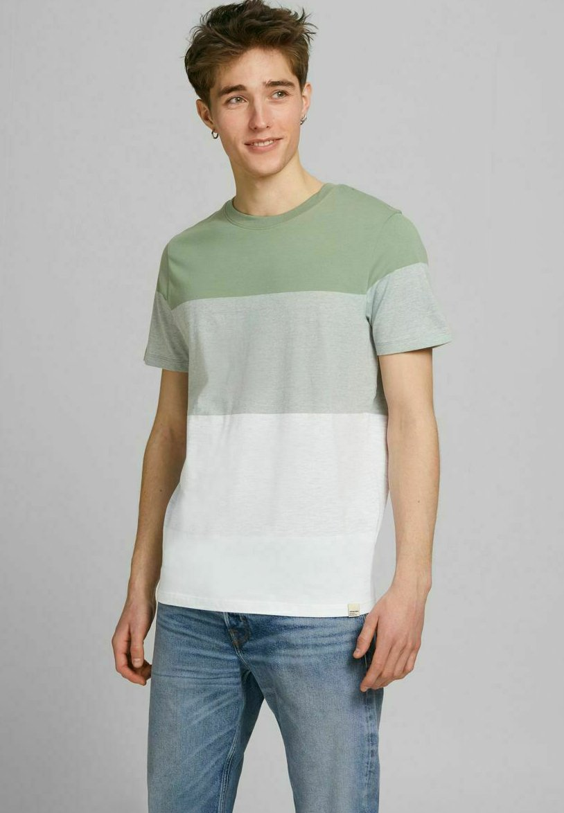 Hombre JORLAGUNA STRIPE TEE CREW NECK - Camiseta estampada
