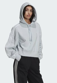 adidas Originals - ADICOLOR CLASSICS CROP HOODIE - Sweat à capuche - blue